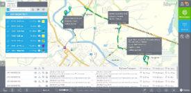 Мониторинг маршрута транспорта, автобусов
